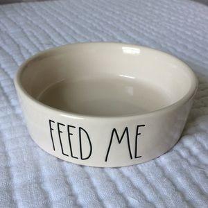 Rae Dunn pet bowl Feed Me